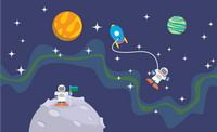 Planetscape Vector Pattern