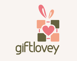 Giftlovey Logo Design
