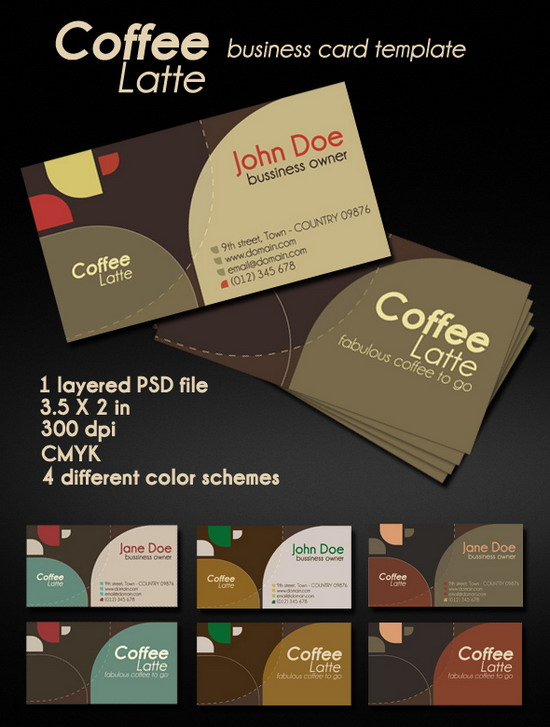 Coffee Latte Business Card
