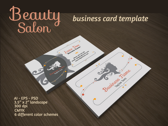 Beauty salon business card audee mirza logo web designer beauty salon business card accmission Image collections
