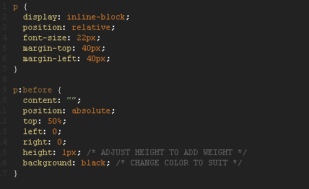 Adjust thickness of CSS 'line-trough'