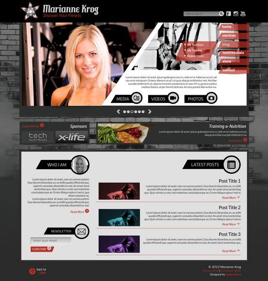 MarianneKrog - Homepage