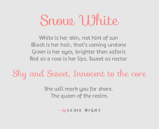 Snow White — typespiration.com