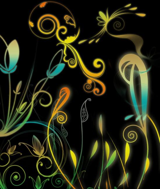 Fantasy Floral Vector