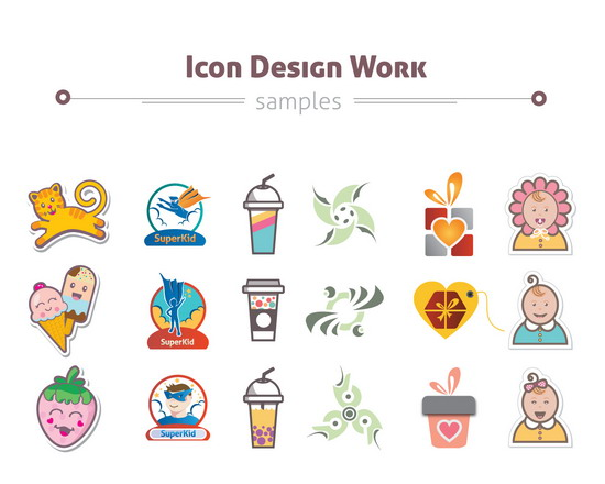 Custom Icon Set for Brand and Web on Envato Studio
